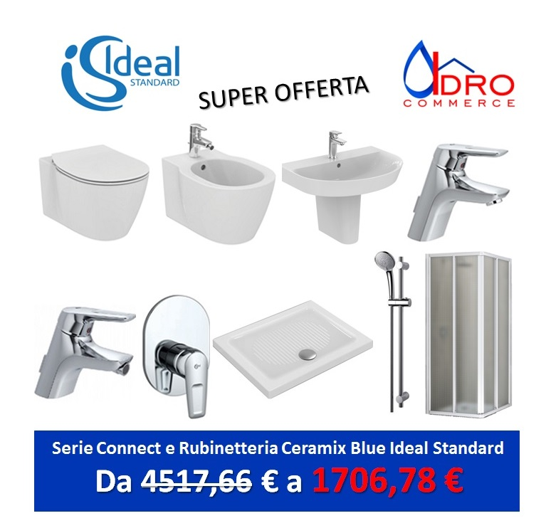 Promozione serie connect ideal standard sospeso - Rubinetteria cucina ideal standard ...