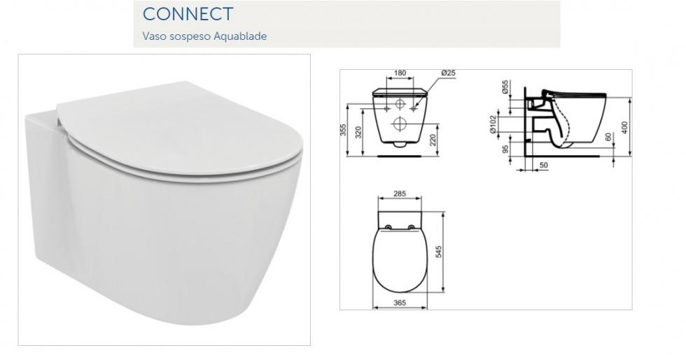 Promozione serie connect ideal standard sospeso rubinetteria ceramix articoli cod 6100017 - Rubinetteria bagno ideal standard ...
