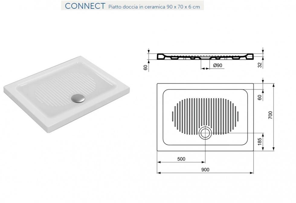 Ideal standard doccia dimensioni piatti doccia ideal standard - Box doccia misure standard ...
