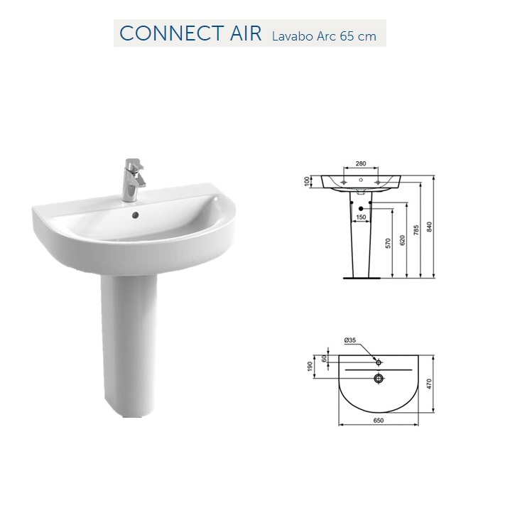 Lavabi Ad Incasso Ideal Standard.Lavabo Connect Top Ideal Standard Mitigeur Lavabo Vasque Connect