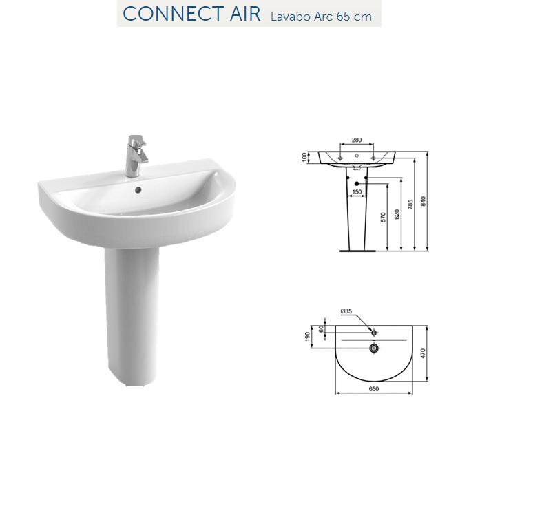 promozione serie connect ideal standard filo parete. Black Bedroom Furniture Sets. Home Design Ideas