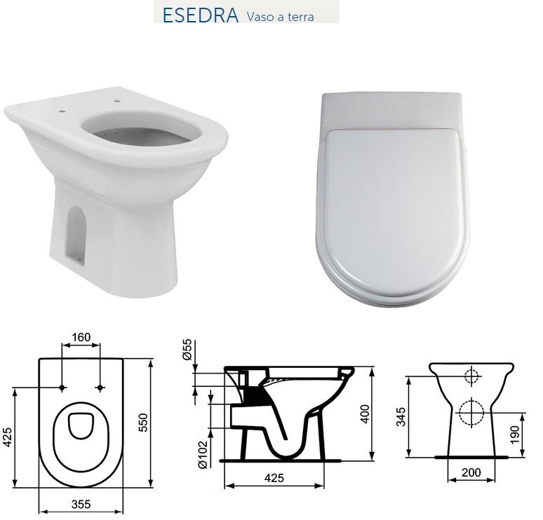 Cassetta wc ceramica ideal standard stunning come for Serie esedra ideal standard