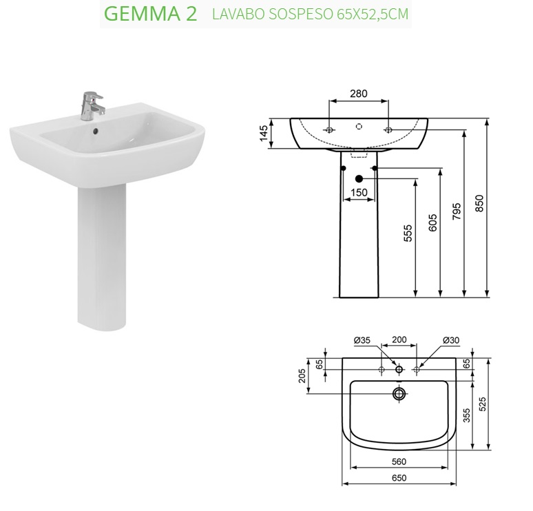 Altezza scarico lavabo amazing disegno bagni altezza lavandino bagno immagini ispiratrici di - Altezza lavandino bagno ...
