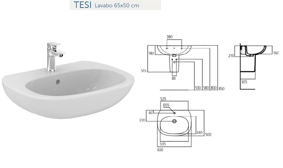 Promozione serie tesi ideal standard filo parete - Miscelatori bagno ideal standard ...