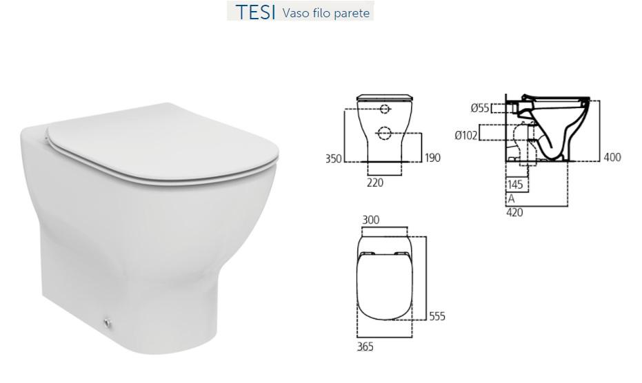 Promozione serie tesi ideal standard filo parete for Sanitari ideal standard tesi