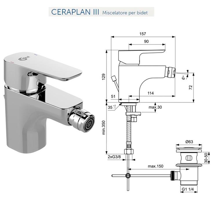 Promozione serie tesi ideal standard sospeso - Miscelatori bagno ideal standard ...