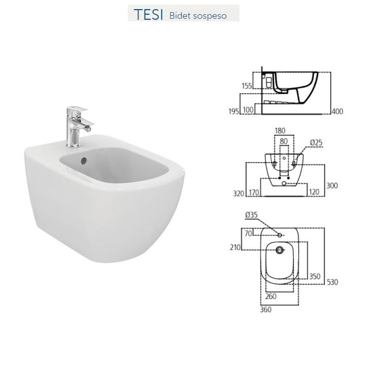 Promozione serie tesi ideal standard sospeso - Rubinetti bagno ideal standard ...