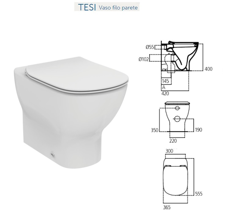 Promozione serie tesi ideal standard filo parete for Vaso tesi ideal standard