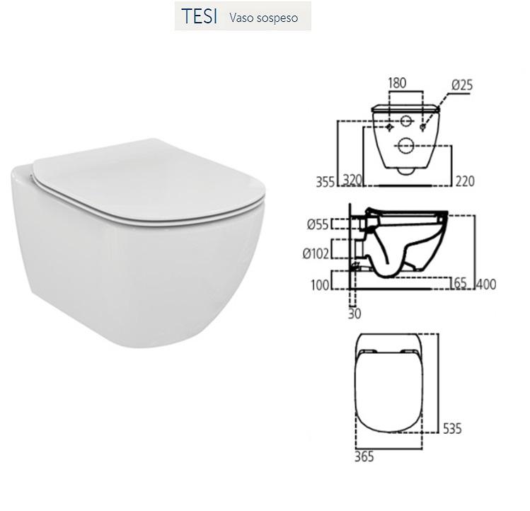 Promozione serie tesi ideal standard sospeso for Vaso tesi ideal standard