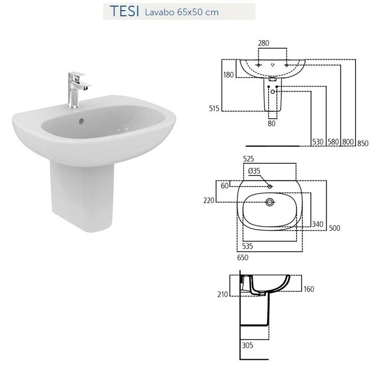 Ideal Standard Lavabo Tesi.Ideal Standard Prezzi Lavabi