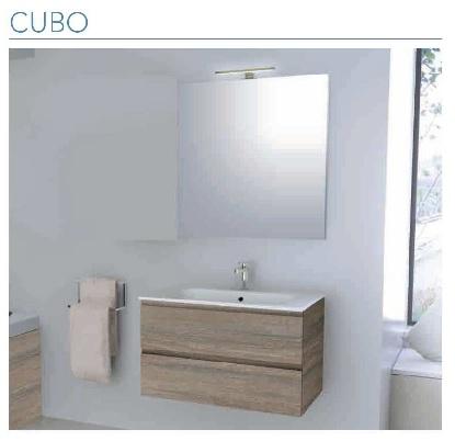 Iotti mobile da bagno modello cubo sospeso cm 100 finitura for Mobile bagno 100 cm