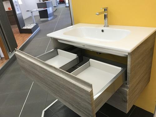 Iotti mobile da bagno modello cubo sospeso cm 80 finitura for Mobile bagno da 80 cm