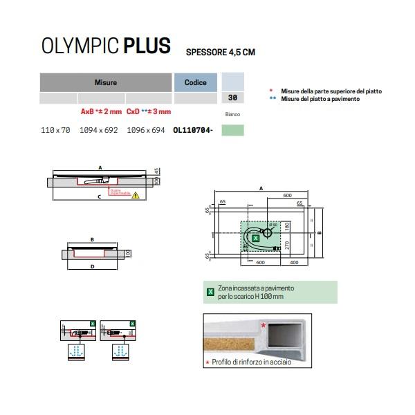 Piatto Doccia 110x70 H 4 5 Cm In Acrilico Novellini Olympic Plus Art Ol110704 30 Idrocommerce Vendita Online
