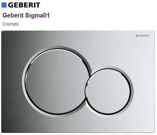 Placca di comando cromo brill Geberit Sigma01 art.115.770.21.5 - Idrocommerce Vendita Online