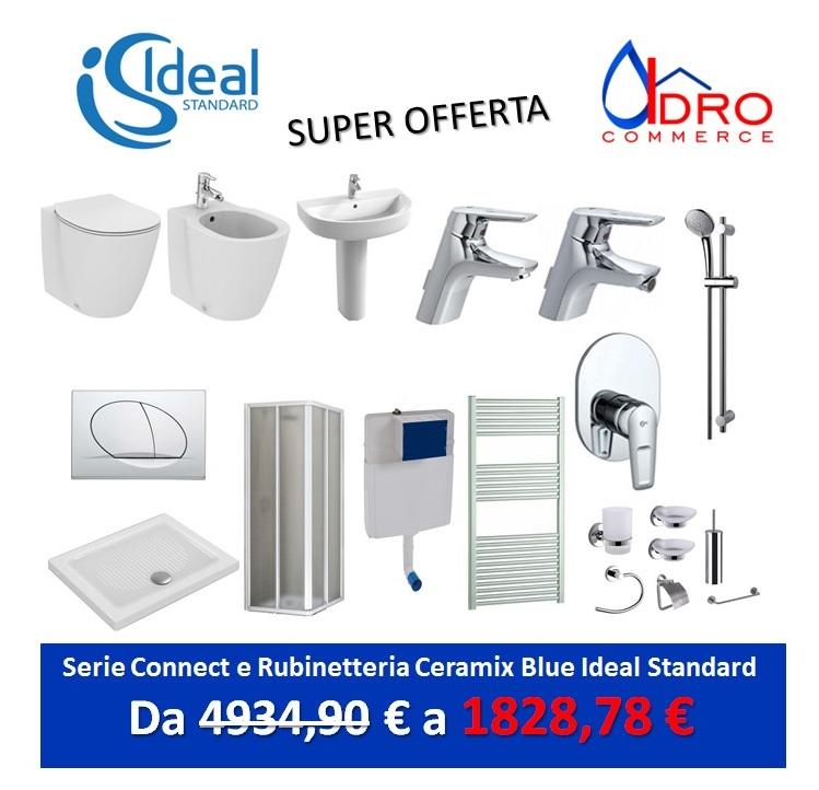 Promozione serie connect ideal standard filo parete - Rubinetteria bagno ideal standard prezzi ...