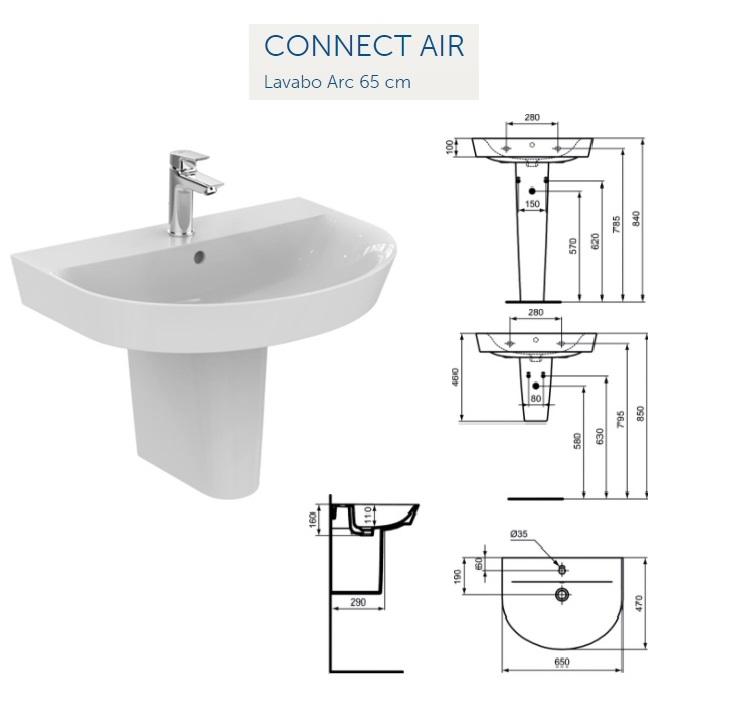 promozione serie connect ideal standard sospeso rubinetteria ceramix articoli cod 6100016. Black Bedroom Furniture Sets. Home Design Ideas