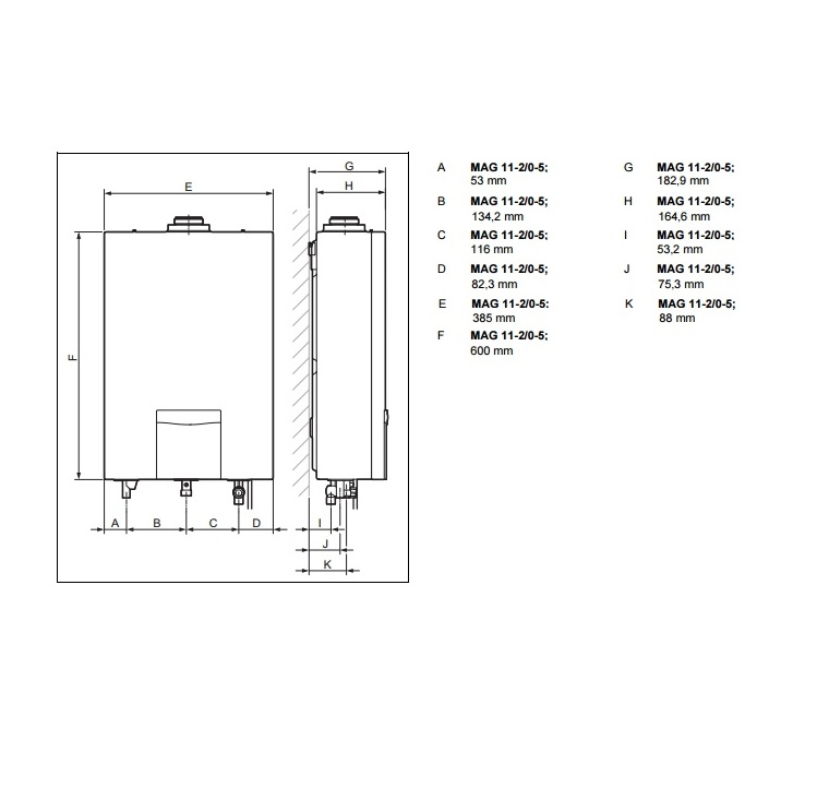 Scaldacqua Metano Vaillant Turbo Mag Plus 11 2 0 5 Art 10016028