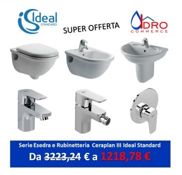 Offerte ideal standard vendita online idrocommerce for Serie esedra ideal standard