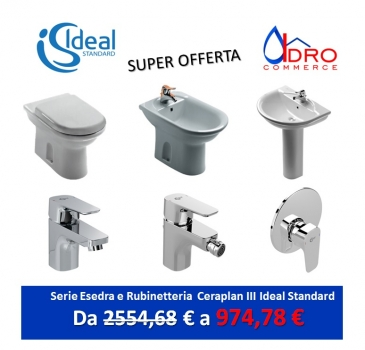 Sanitari idrocommerce vendita online for Serie esedra ideal standard